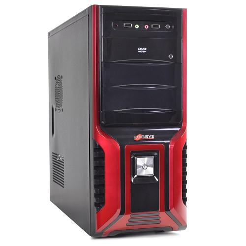 Logisys 10 Bay 7 Expansion Slots ATX Mid Tower Computer Case w/480W 20+4-pin PSU