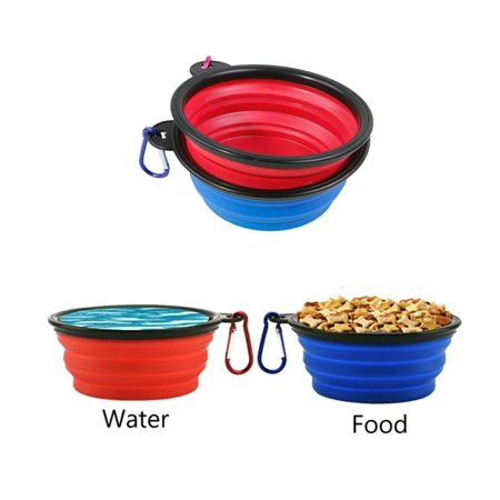 92581db27790 Xelparuc 2 Pcs Collapsible Dog Bowl with 2 Carabiners, Small Foldable  Travel Water Bowls for Pet Working Dogs, Portable Pet Feeding Watering  Bowls for ...