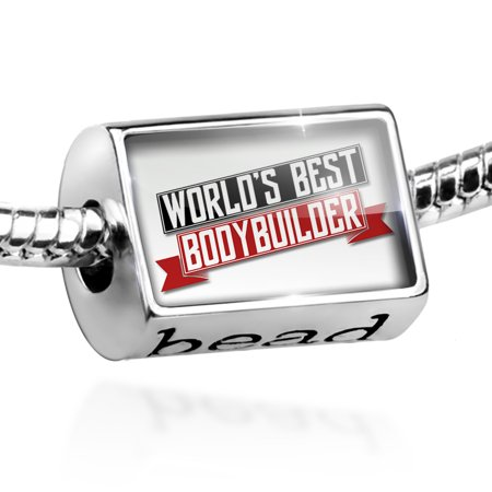 Bead Worlds Best Bodybuilder Charm Fits All European (Best Bodybuilder In The World 2019)