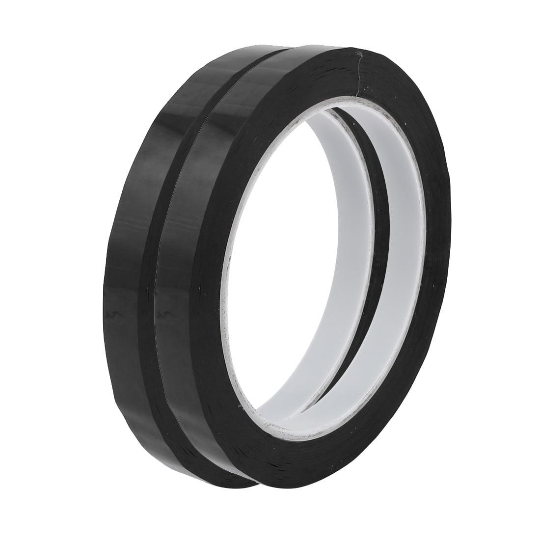 2pcs 10mm Width 66M Length Single-side Position Sign Sticker Marking Tape Black - image 3 de 3