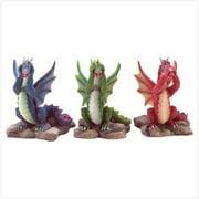 SWM 33915 3 Piece See Hear Speak No Evil Dragon Figurines Figures