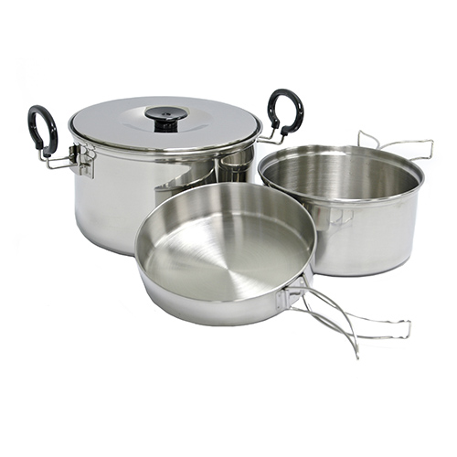 Chinook Stainless Steel Plateau Expedition Cookset by Chinook