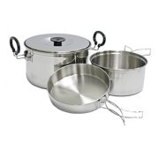 Chinook Stainless Steel Plateau Expedition Cookset