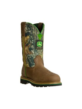 "Men's John Deere Boots 11"" Safety Toe Work Wellington 4348"