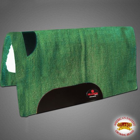 MADE IN USA HILASON WESTERN NEW ZEALAND WOOL SHOCK BUSTER SADDLE BLANKET PAD (Saddle Blanket Pad)