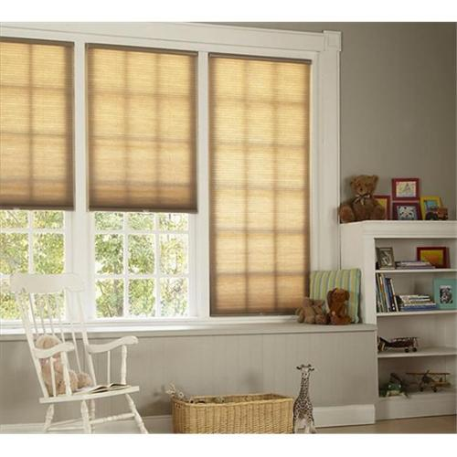 DEZ Furnishing QCLN240720 Cordless Cellular Light Filtering Shade, Linen - 24 W x 72 L inch