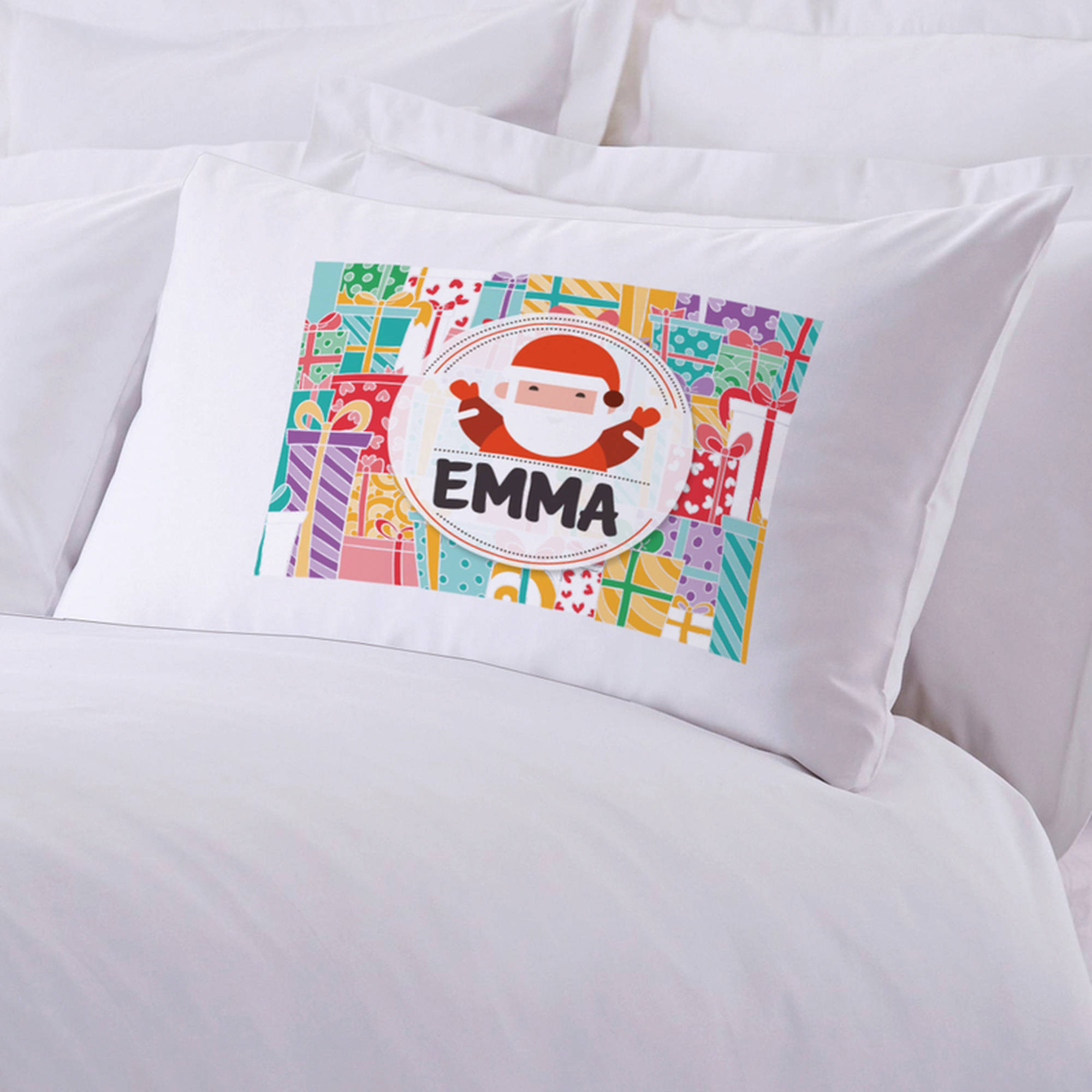 "Personalized Kid's Christmas Pillow Case, 20"" x 30"""