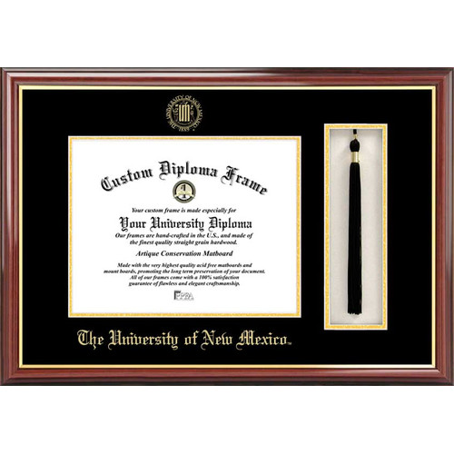"University of New Mexico 8.5"" x 11"" Tassel Box and Diploma Frame"