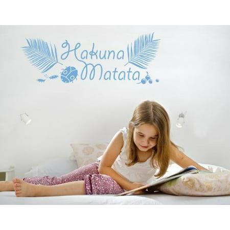 Hakuna Matata Kids Wall Decal Wall Sticker Vinyl Wall Art Home Decor W