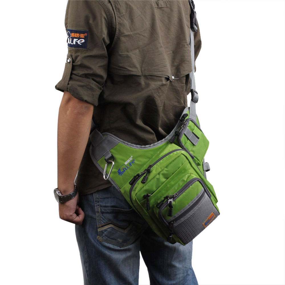 Details about  /32*39*12CM iLure Fishing Bag Canvas Fishing Reel Lure Tackle Bag Waterproof S5I2