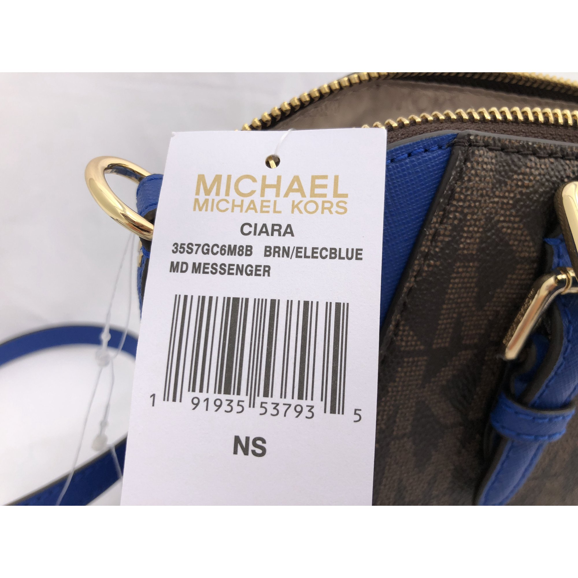 Buy Michael Kors Medium Ciara Top Zip Satchel Crossbody Brown Mk Wiring Devices Lebanon Electric Blue
