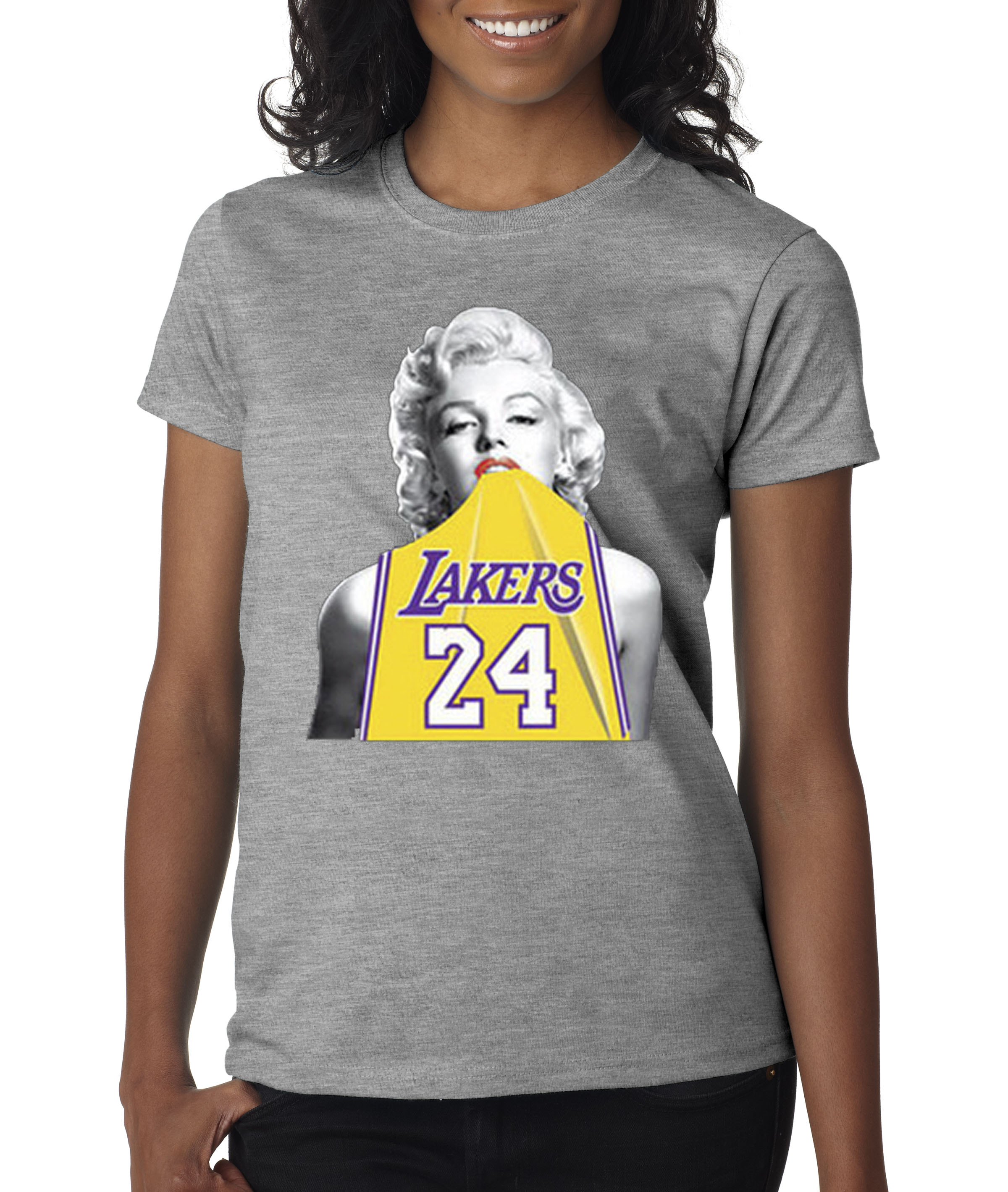super popular d6d13 fa186 t shirt marilyn monroe lakers