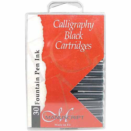 Manuscript Pen Manuscript Calligraphy Cartridge, 30/pkg, Black