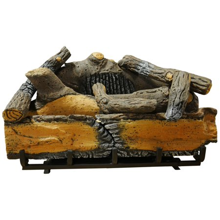 "Cedar Ridge Hearth 24"" Decorative Realistic Fireplace Ceramic Wood Log Set - Model CRHD24T-D"