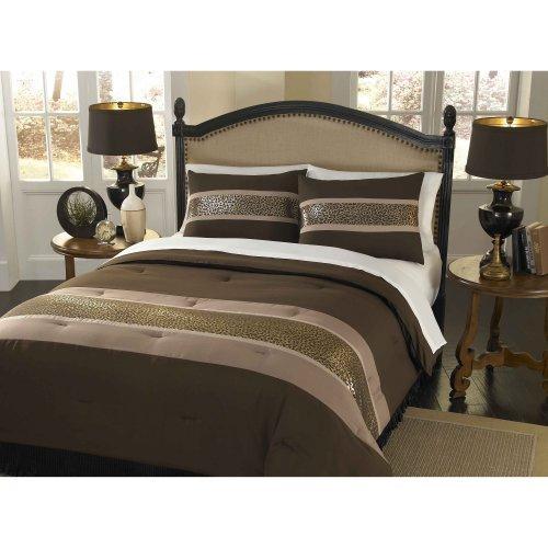 Divatex Home Fashions Shiny Leopard Print Mini Comforter Set