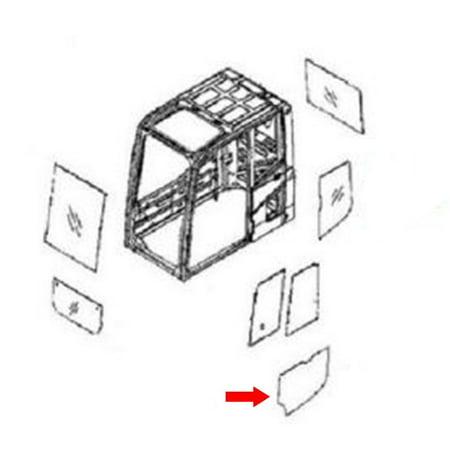 20Y-53-11451 Lower Door Window For Komatsu Excavator PC130