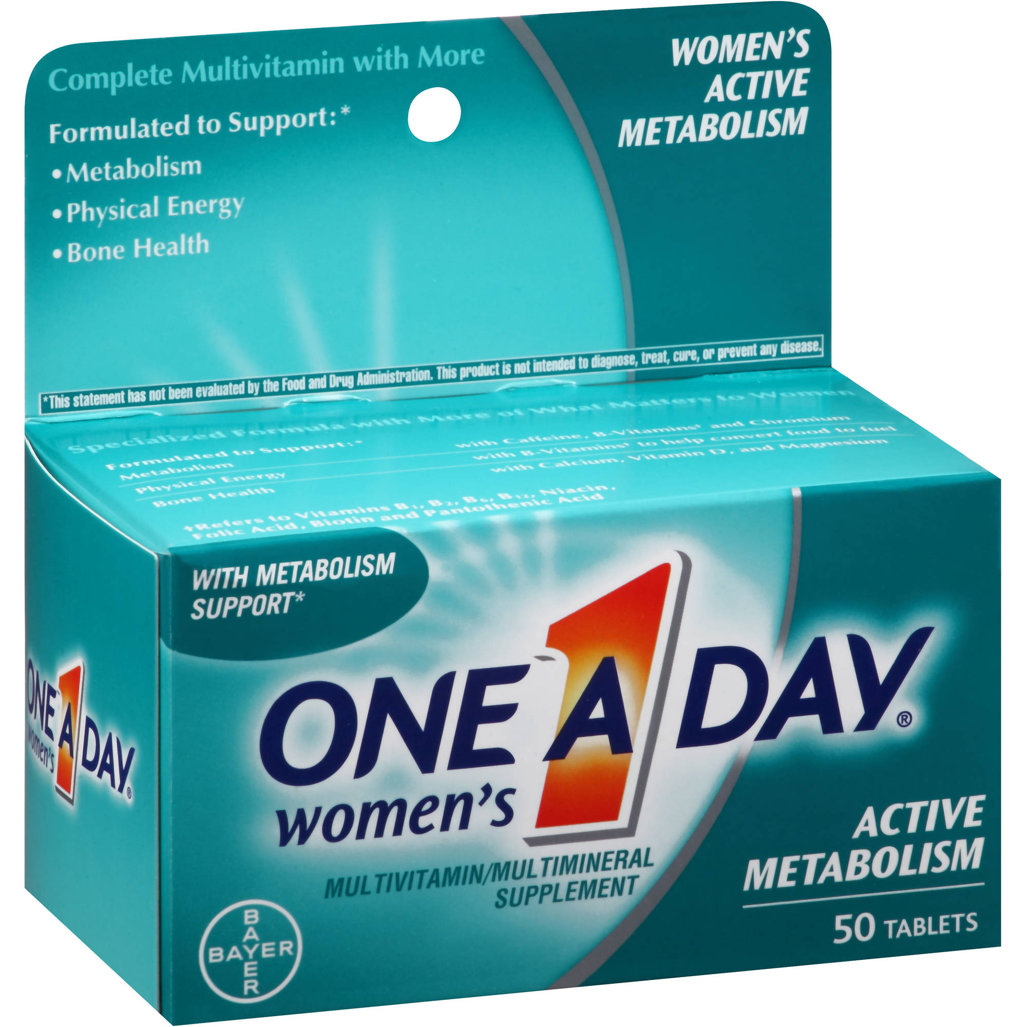 One A Day Women's Active Metabolism Multivitamin/Multimineral Supplement, 50 count