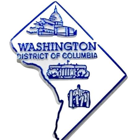 Washington DC District of Columbia Map Fridge Magnet - Firefly Washington Dc
