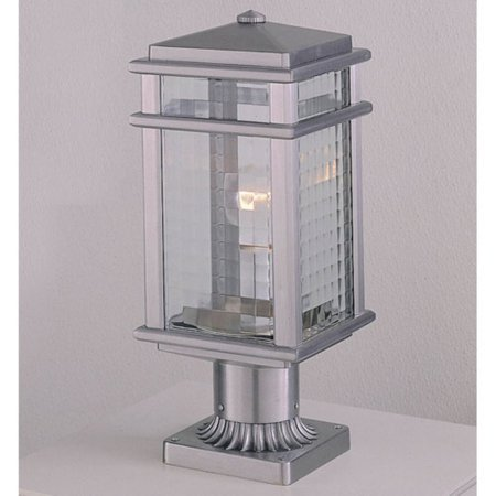 Feiss Monterey Coast Outdoor Post Lantern - 16H in. Brushed Aluminum (Aluminum Large Post Lantern)