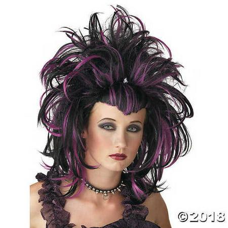 Black & Purple Evil Sorceress Wig - Evil Sorceress