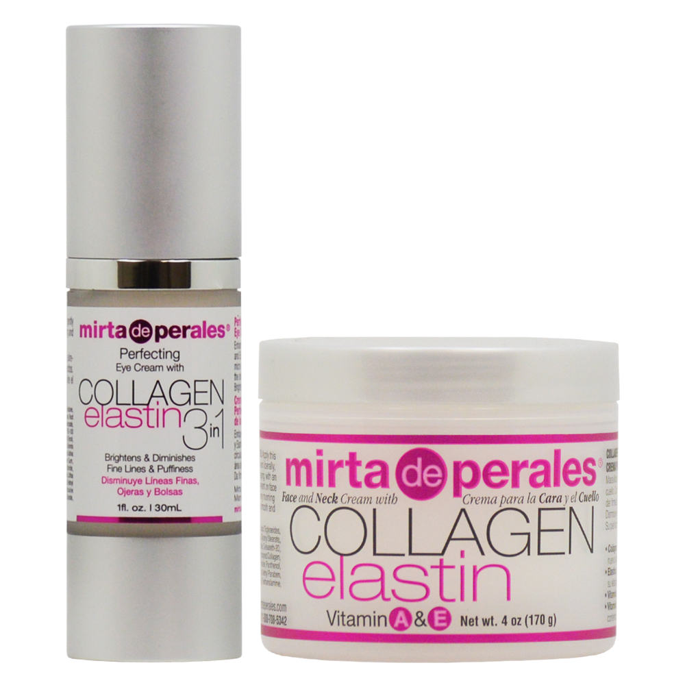 "Mirta de Perales Collagen Elastin Eye Cream 1oz + Face & Neck Cream 4oz ""Set"""