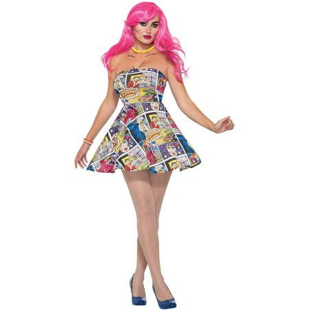 Pop Art Dress Women's Adult Halloween Costume (Art Halloween)