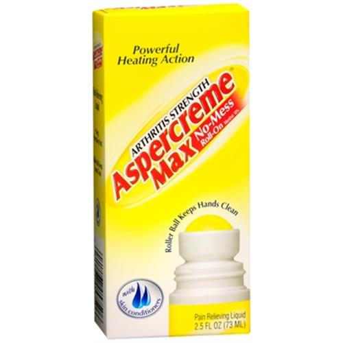 ASPERCREME Max Arthritis Strength No-Mess Roll-On Pain Relieving Liquid 2.50 oz (Pack of 2)