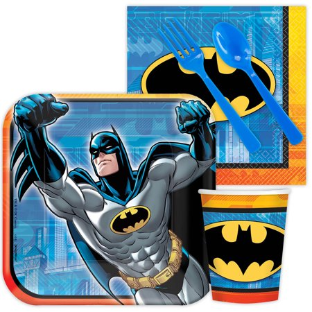 Batman Standard Kit (Serves 8) - Party Supplies](Batman Wholesale)