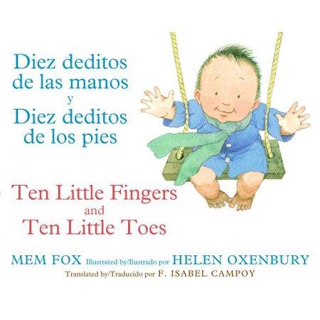 Diez Deditos De Las Manos Y Diez Deditos (Board Book) (Huesos De La Mano Halloween)