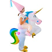 HUAYUARTS Unicorn Inflatable Costum Colorful Adult Funny Blow up Suit Halloween Christmas Cosplay Birthday Gift, Plus Size