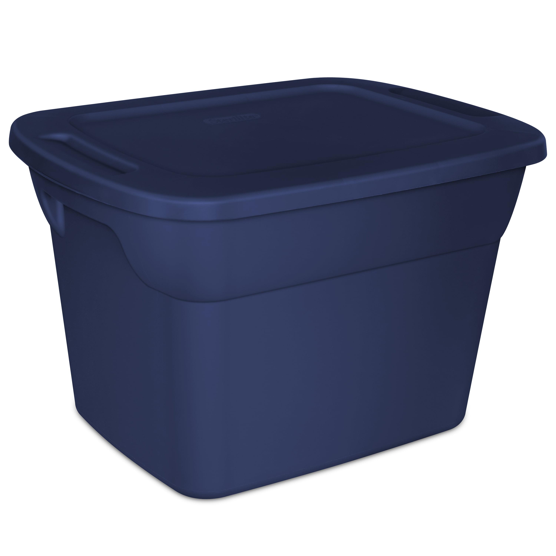 Sterilite 18-Gallon (68 L) Tote Box, Ultramarine
