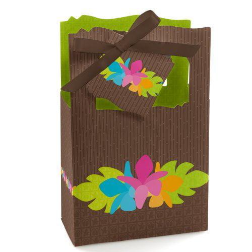 Luau - Party Favor Boxes - Set of 12