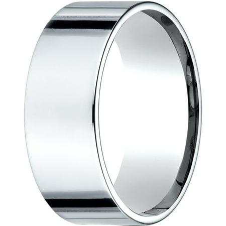 Womens Platinum, 8.0mm Flat Comfort-Fit Wedding Band