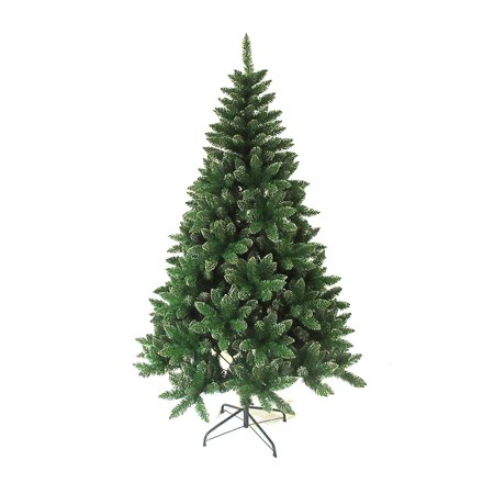ALEKO CT47H300 4-Foot Tall Artificial Holiday Pine Tree, Green Tree with White Peaks