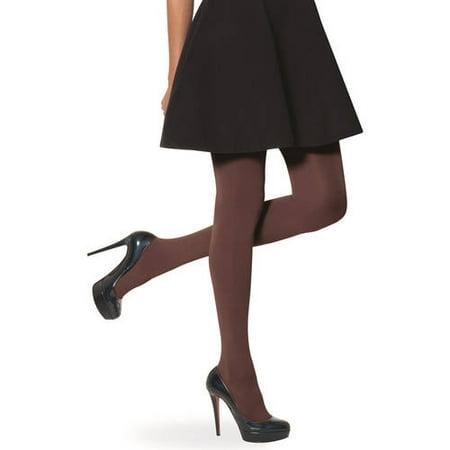 No nonsense Women's Super Opaque Control Top Tights Hue Opaque Control Top Tights Pantyhose