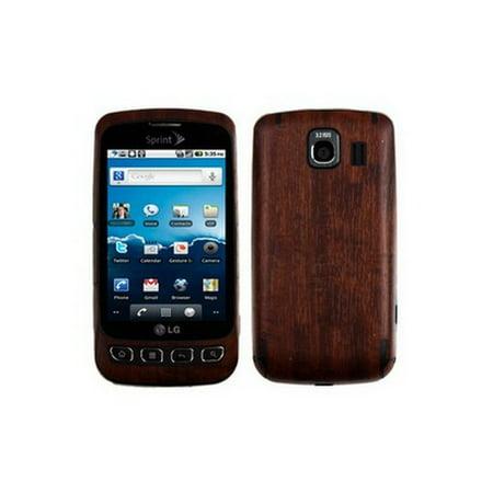 Skinomi Dark Wood Full Body + LCD Screen Protector Film Cover for LG Optimus (Dark Wood Lcd)