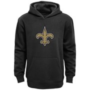 New Orleans Saints Youth Primary Logo Team Color Fleece Pullover Hoodie - Black