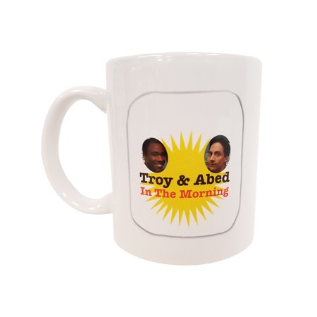 Morning Rose Community Silverplate - Troy And Abed In The Morning Coffee Mug Community TV Show Talk White Cup & Gift