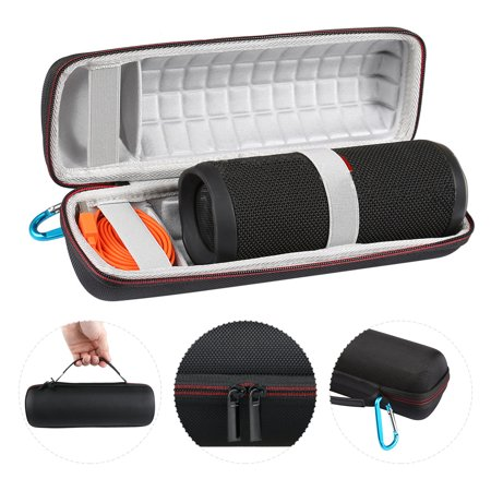 EEEKit Portable EVA Travel Hard Carrying Case Bag Shockproof Speaker Protector with Zipper & Buckle for JBL Flip 3/4 Bluetooth