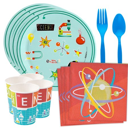 Science Robot Party Standard Tableware Kit (Serves 8) - Science Party
