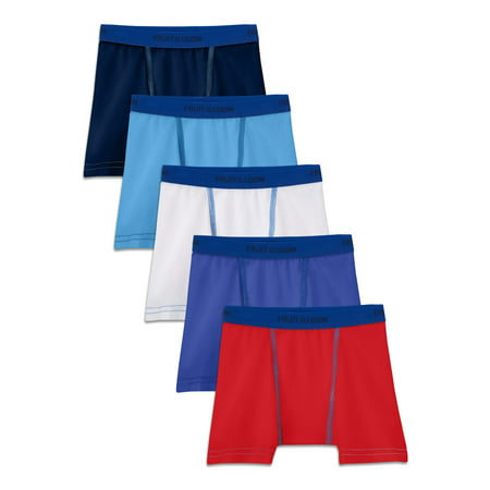 Fruit of the Loom Cotton Stretch Boxer Briefs, 5 Pack (Toddler Boys)