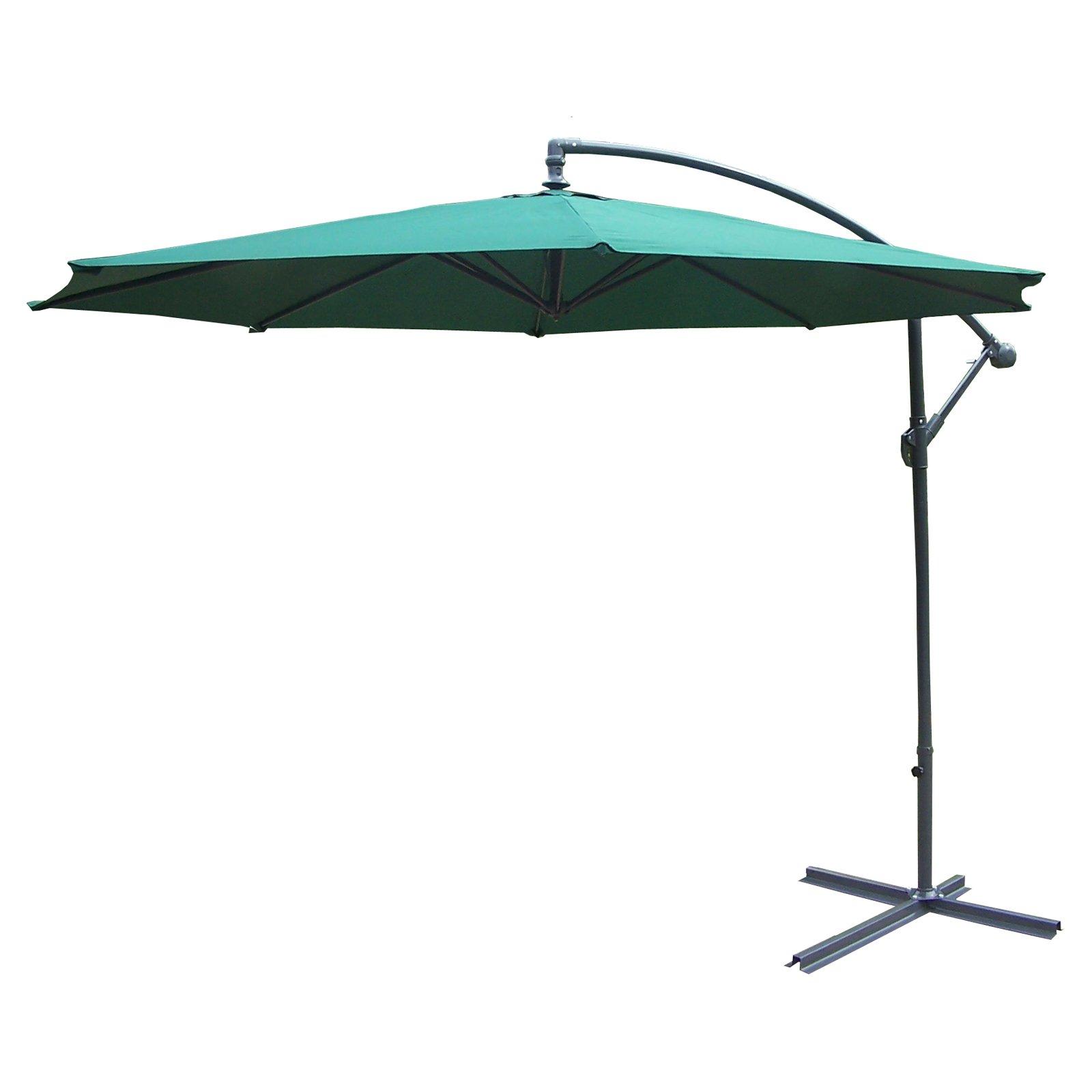 Oakland Living 10 ft. Cantilever Umbrella with Cast Polyr...