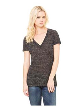 eeba52e4 Product Image Bella + Canvas Ladies' Jersey Short-Sleeve Deep V-Neck T-Shirt