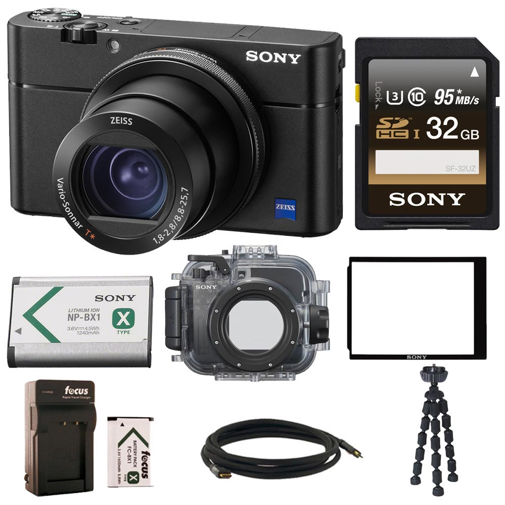 Sony DSCRX100M5 Cyber-shot Camera w/ Sony Underwater Housing Accessory Bundle
