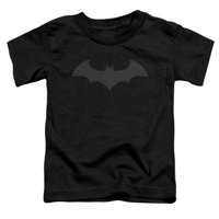 Batman-Hush Logo - Short Sleeve Toddler Tee - Black, Small 2T