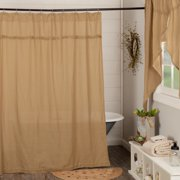 VHC Brand Burlap Natural Shower Curtain 6172