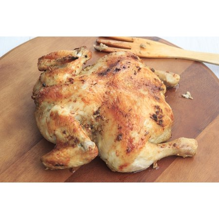 LAMINATED POSTER Cooked Dinner Chicken Roasted Grilled Whole Poster Print 24 x