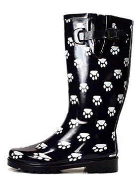 603c0435b2c79 Product Image OwnShoe Women s Fashion Mid Calf Waterproof Rubber Rainboots