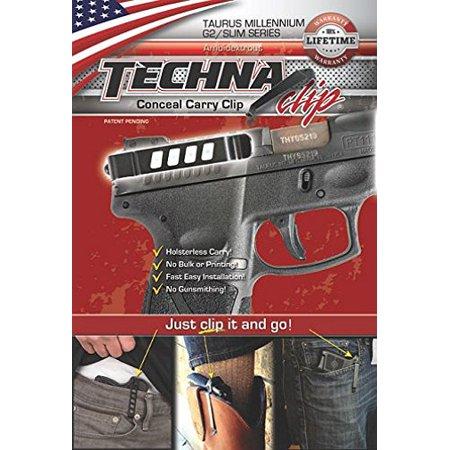 Techna Clip G2BA Ambidextrous Conceal Carry Gun Belt Clip Taurus Millennium G2/Slim Carbon Fiber