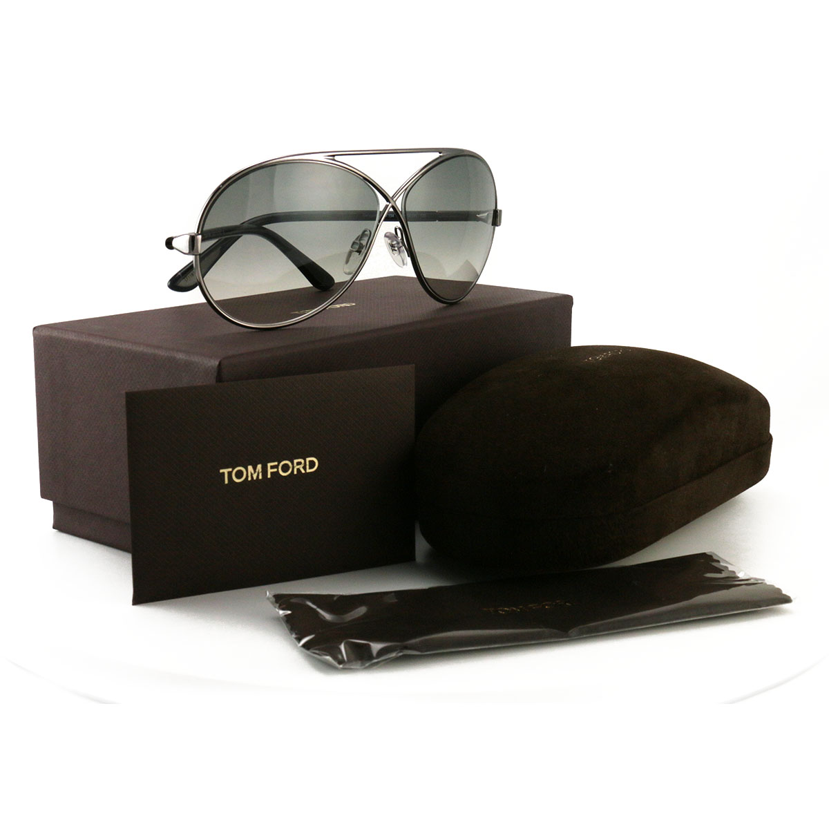 Tom Ford Women's Sunglasses FT0154/TF0154 12B Silver 64 11 125
